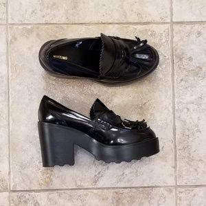 Mossimo Patent Leather Platform Chunky Heel Great!